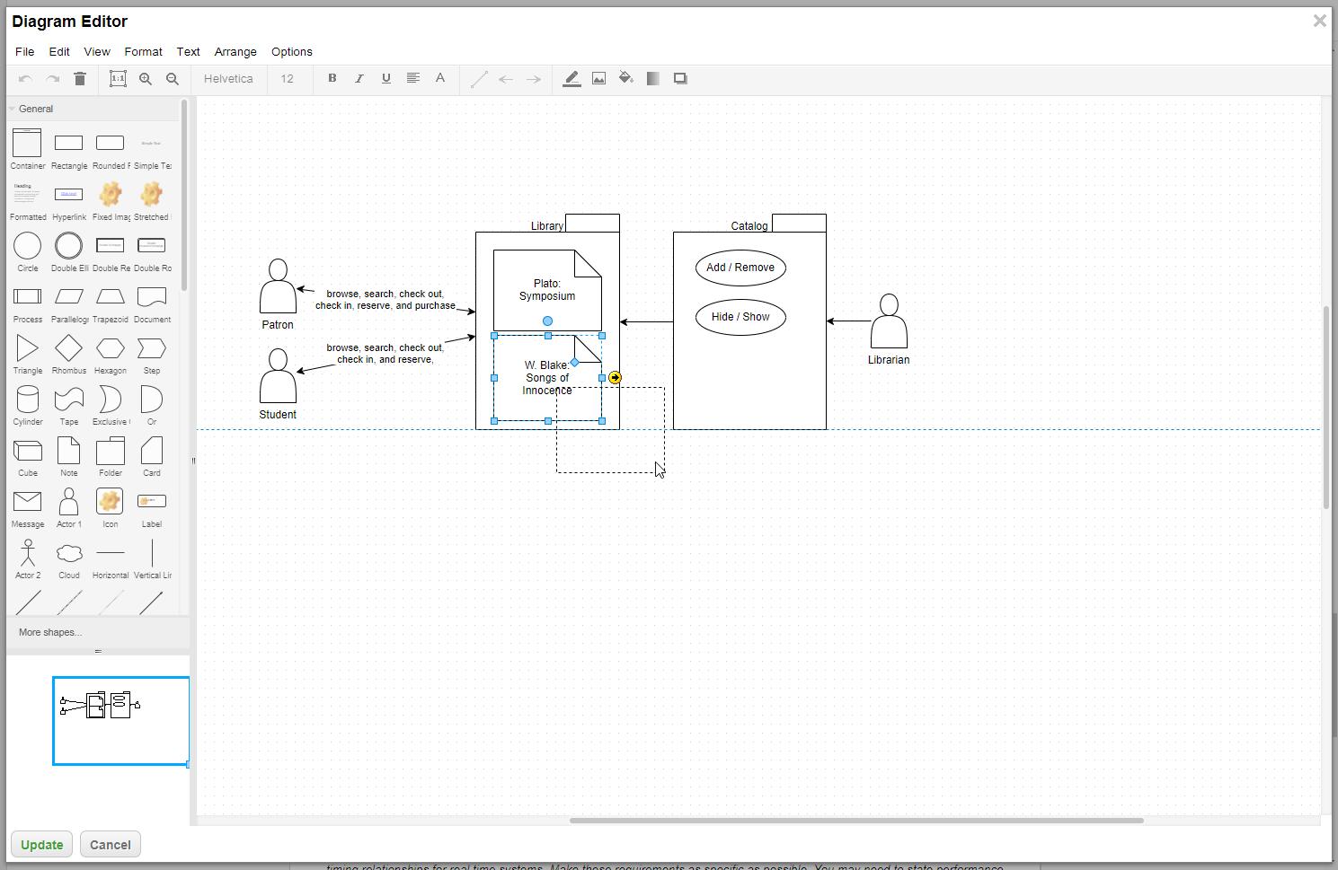 Abbildung 5 - Modellieren mit dem Diagram Editor