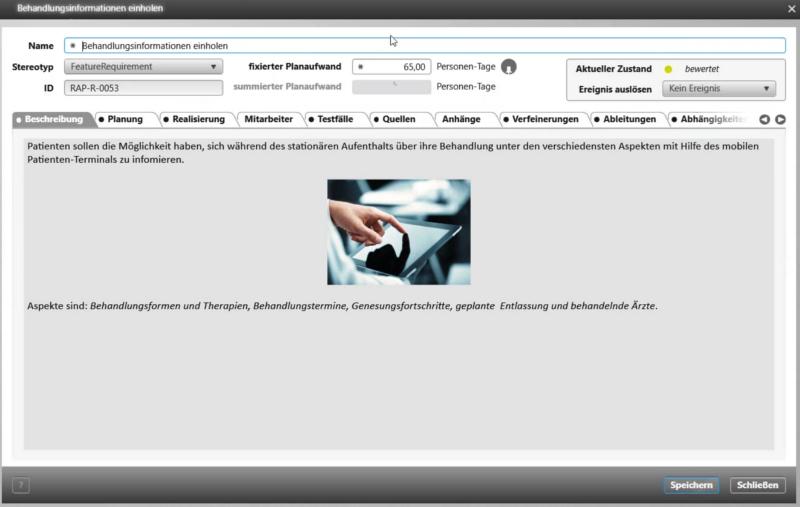 Abbildung 2 - Anforderungen strukturiert dokumentieren